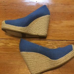 Beautiful bright blue wedges!!!